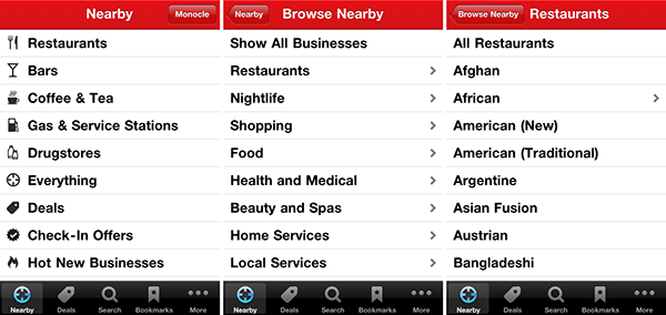 Yelp Categories