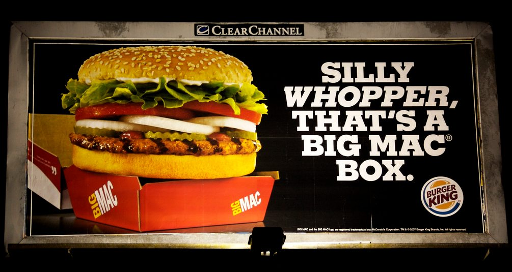 Whopper in Big Mac Box Advertising