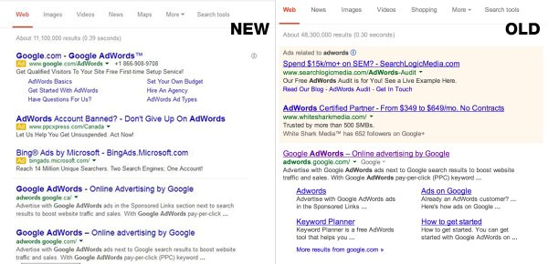 Comparing Google's Old Design with New Design